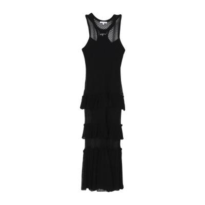 パトリツィア ペペ PATRIZIA PEPE ロングワンピース&ドレス ブラック 2 レーヨン 88% / ポリエステル 12% ロングワンピース