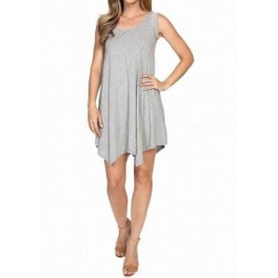 Shift  ファッション ドレス Moc-o-doc NEW Gray Womens Size Large L Asymmetric Jersey Shift Dress