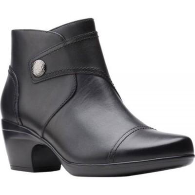クラークス Clarks レディース ブーツ ショートブーツ シューズ・靴 Emily Calle Ankle Bootie Black Full Grain Leather