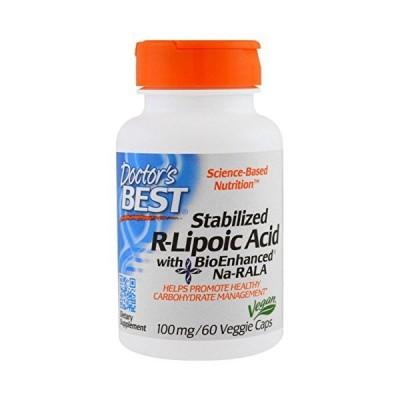 ベスト 安定型 R型 アルファ リポ酸(Na-RALA)100mg 60ベジカプセル ドクターズベスト(Doctor's Best) [並行輸入品]