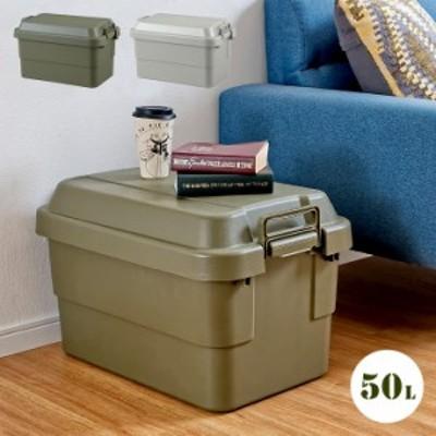 [ポイント5倍/13日23:59まで] [日本製/耐荷重100kg] フタ付き 収納ボックス トランクカーゴ 50L 2色対応 TC-50 収納BOX 頑丈 丈夫 コンテ