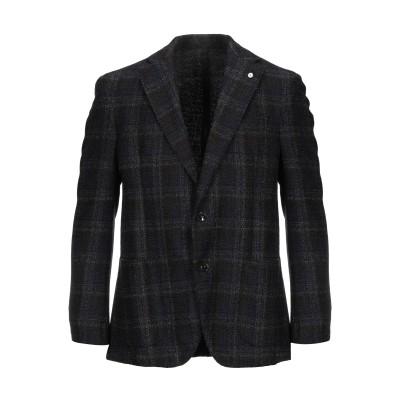 BRANDO テーラードジャケット ダークブルー 52 ウール 86% / ポリエステル 14% テーラードジャケット