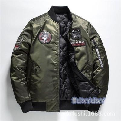 カッコイイ ミリタリージャケット ミリタリーワッペン 軍物エンブレム アメリカン メンズ フライトジャケット リバーシブルジャケット