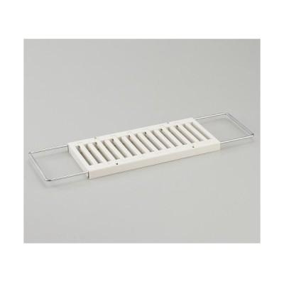 伸晃 KMR-W(ホワイト) キッチン水切りラック 伸縮タイプ
