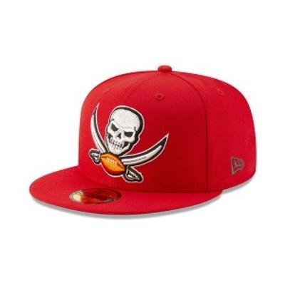 ニューエラ メンズ 帽子 アクセサリー Tampa Bay Buccaneers Logo Elements Collection 59FIFTY FITTED Cap Red