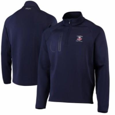 Bobby Jones ボビー ジョーンズ スポーツ用品  Mens 2019 U.S. Open Bobby Jones Navy XH20 Crawford Quarter Zip Pullover Jacket