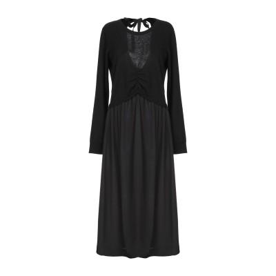 ジャッカ JUCCA 7分丈ワンピース・ドレス ブラック M ウール 35% / レーヨン 30% / カシミヤ 20% / ナイロン 15% /