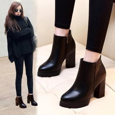 ショートブーツ ブーツ レディース シューズ 靴 ハイヒール 美脚 歩きやすい アンクルブーツ カジュアルシューズ