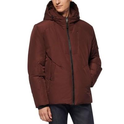 マークニューヨーク ジャケット&ブルゾン アウター メンズ Men's Spalding Down-Filled Hooded Jacket Oxblood