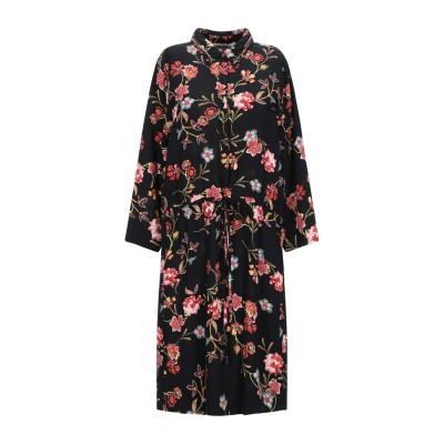 GARCIA ミニワンピース&ドレス ブラック XS レーヨン 100% ミニワンピース&ドレス