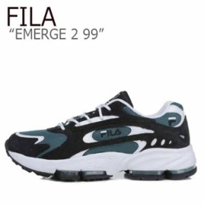 フィラ スニーカー FILA メンズ レディース EMERGE 2 99 イマージ2 99 BLACK GREEN ブラック グリーン FS1HTB1013X シューズ