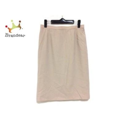 レリアン Leilian スカート サイズ9 M レディース 美品 ベージュ       スペシャル特価 20200926