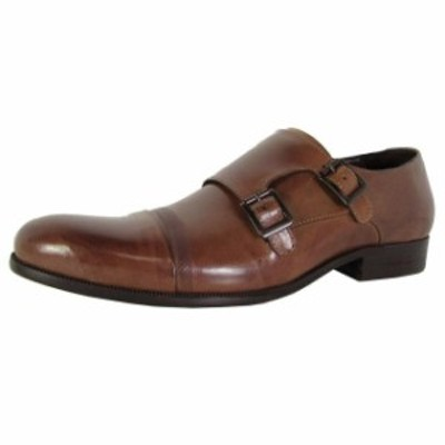 Kenneth Cole ケネスコール ファッション ドレスシューズ Kenneth Cole New York Mens Mis-chief Double Monkstrap Shoes Cognac US 9.5