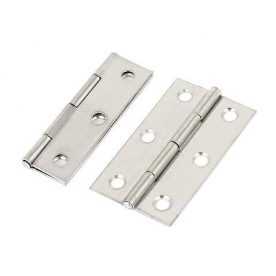 uxcell 蝶番 ドアのヒンジ ステンレス鋼 ドアヒンジハードウェア クローゼットキャビネット 折り畳み式