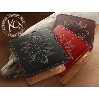 KC,s サンタフェ ビルフォード メダリオン /牛革二つ折り財布 送料無料 メンズ 革 レザー 財布 レディース さいふ・財布・ウォレット・wallet/saifu本革