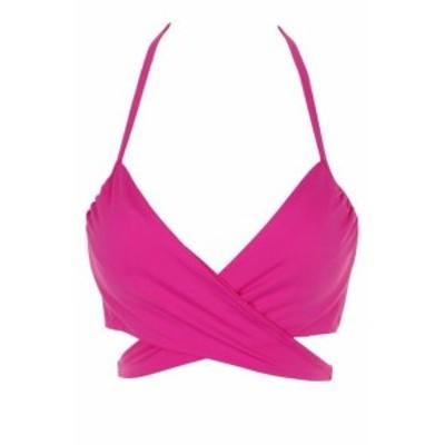 スポーツ用品 スイミング Sundazed Pink Simone Bra-Sized Underwired Wrap Bikini Top 36C