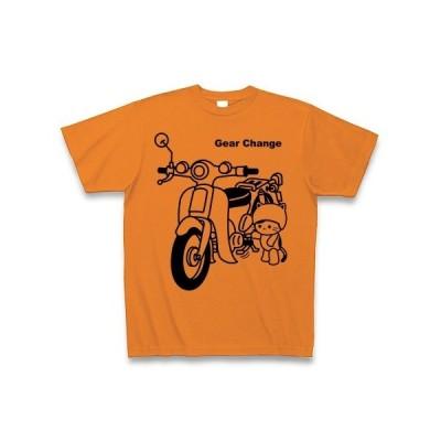 ギアチェンジするねこ Tシャツ(オレンジ)