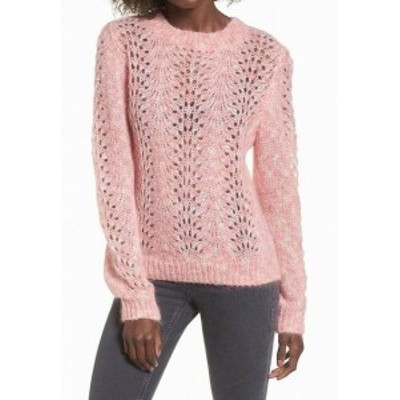 Topshop トップショップ ファッション トップス TopShop NEW Pink Womens Size US 6 UK 10 Open Knitted Pullover Sweater