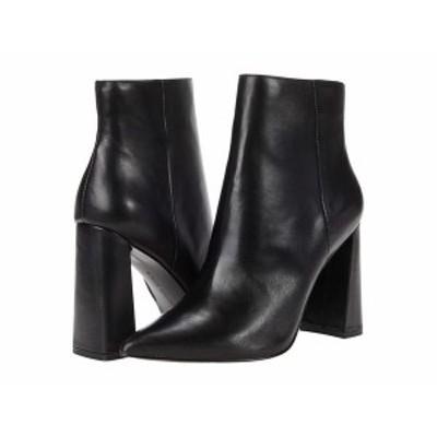 スティーブ マデン レディース ブーツ・レインブーツ シューズ Tarra Heeled Booties Black Leather