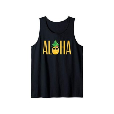 Aloha Pineapple Wearing Sunglasses Hawaiian Greeting Tank Top
