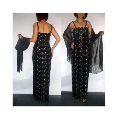 【ROBERTA】ブラック&シルバー 刺繍が輝き溢れる主役のドレス CM-013