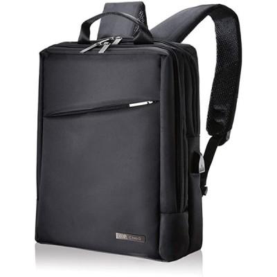 ビジネスバッグ ビジネスリュック 3way メンズ 大容量 防水 軽量 バックパック 01 ブラック(1 ブラック)
