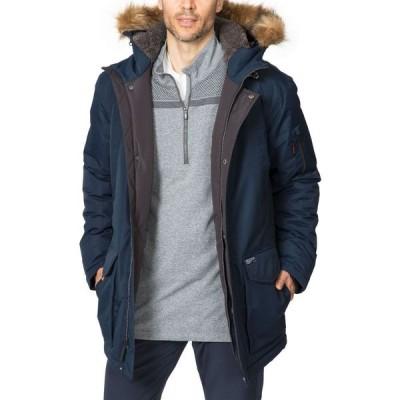 ホークアンドカンパニー Hawke & Co. メンズ コート アウター Outfitter Logan Faux-Fur-Trim Parka Hawke Navy