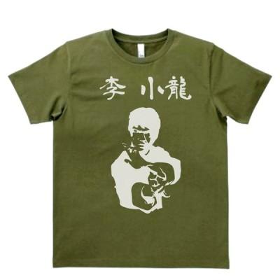 バンド ロック Tシャツ ブルースリー 李 小龍 カーキー MLサイズ
