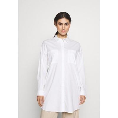 イー ディ シー バイ エスプリ シャツ レディース トップス LONG BLOUSE - Button-down blouse - white