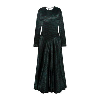 ガニー GANNI ロングワンピース&ドレス ブラック 34 レーヨン 100% ロングワンピース&ドレス