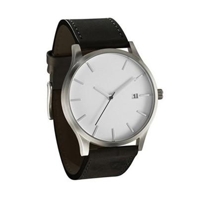 SMTSMT Popular Low-Key Men's Quartz Wristwatch Minimalist Connotation Leather Watch (White)【並行輸入品】