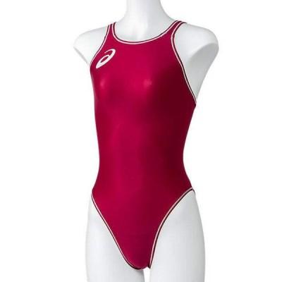 アシックス 女性用競泳水着 ノーマルカット(S・エンジ) asics (FINA承認)競泳用 2162A094-600-S 返品種別B