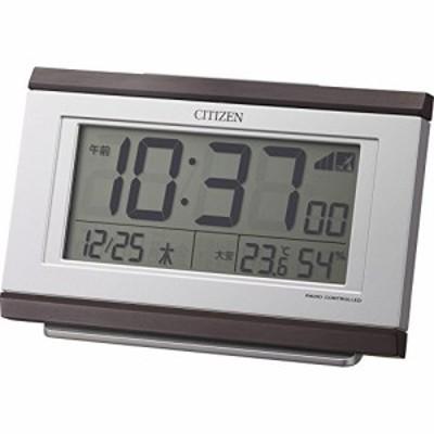 シチズン 8RZ161-006 パルデジットキング 電波目覚まし時計 温湿度計付き
