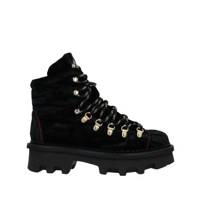 BARRACUDA ショートブーツ ブラック 37 紡績繊維 ショートブーツ