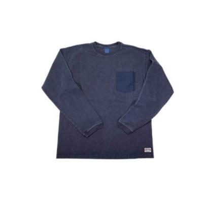 GOOD ON/グッドオン SIERRA/シエラデザインコラボ メンズ長袖 60/40ポケットTシャツ ピグメントネイビー あすつく