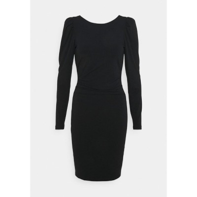 デザイナーズリミックス ワンピース レディース トップス STRETCH SLEEVE DRESS - Jersey dress - black