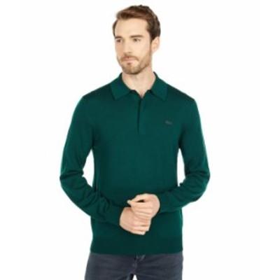 ラコステ メンズ ニット・セーター アウター Long Sleeve Solid Jersey 1/4 Zip Sweater Sinople