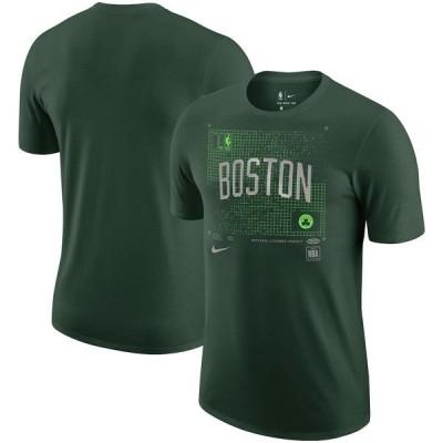 ナイキ メンズ Tシャツ トップス Boston Celtics Nike Courtside Chrome T-Shirt Kelly Green