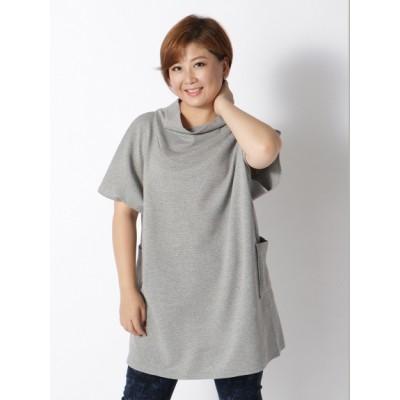 【大きいサイズ】【3-7L】【日本製】デザインプルオーバーチュニック 大きいサイズ トップス・チュニック レディース