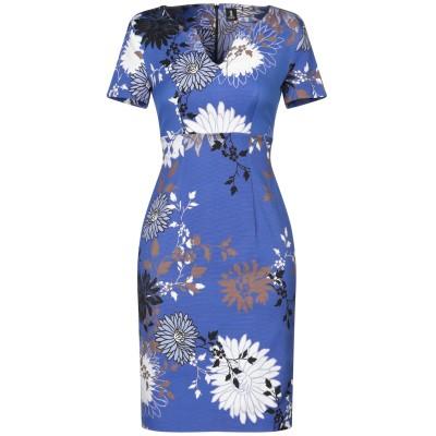 ONE ミニワンピース&ドレス ブルー 40 コットン 55% / レーヨン 42% / ポリウレタン 3% ミニワンピース&ドレス