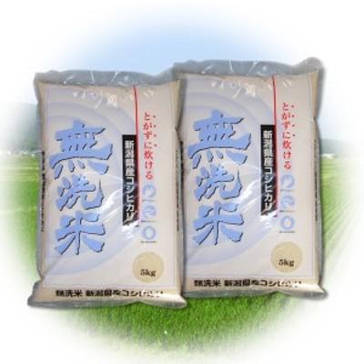 新米 令和3年産 無洗米 新潟県産コシヒカリ 米 10kg (5kg×2個) 2021年度産 米 精米 コシヒカリ