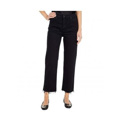Hudson Jeans ハドソン ジーンズ レディース 女性用 ファッション ジーンズ デニム Remi High-Rise Straight Cropped in Worn Black - Worn Black