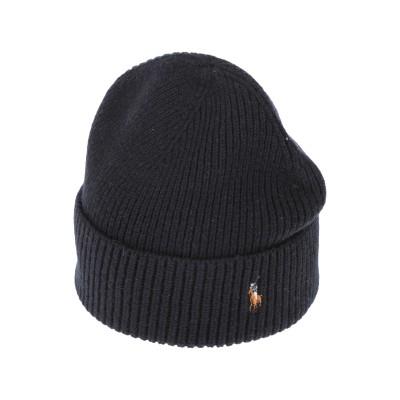POLO RALPH LAUREN 帽子 ダークブルー one size ウール 100% 帽子