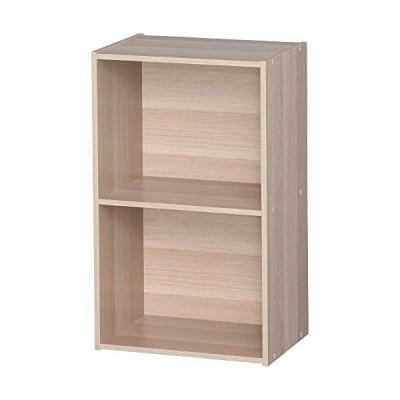 アイリスオーヤマ カラーボックス 2段 A4ファイルが入る 収納ボックス 本棚 幅41.5×奥行29×高さ68cm ナチュラル