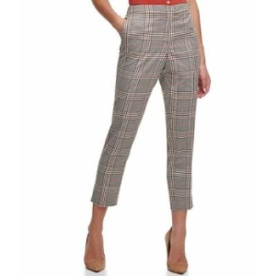 トミー ヒルフィガー レディース カジュアルパンツ ボトムス Plaid Print Stretch Woven Ankle Pants Cinnamon Multi