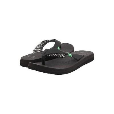 サンダル サヌーク レディース シューズ Sanuk Yoga Mat カジュアル Flip Flop サンダル SWS2908 Ebony *New*