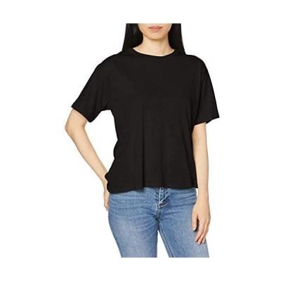 [フリーズマート] Tシャツ バックツイストTシャツ レディース (ブラック Free Size)