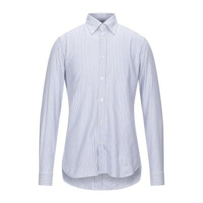 CALIBAN ストライプ柄シャツ ファッション  メンズファッション  トップス  シャツ、カジュアルシャツ  長袖 ブルー