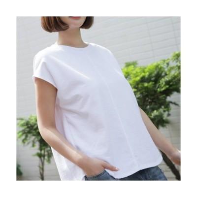 Tシャツ カットソー  レディース トップス 無地 半袖 夏 50代 40代 60代 ファッション 女性