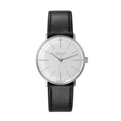 ユンハンス 腕時計 Junghans Max Bill Hand-Winding Black Leather Strap ユニセックス Watch 027/3700.04